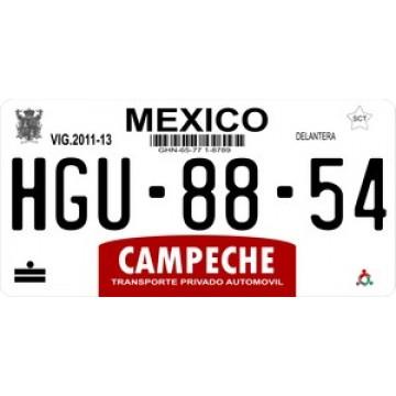 Mexico Campeche Photo License Plate