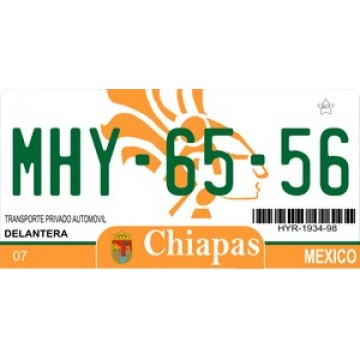 Mexico Chiapas Photo License Plate