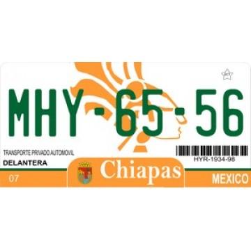 Mexico Chiapas Photo License Plate