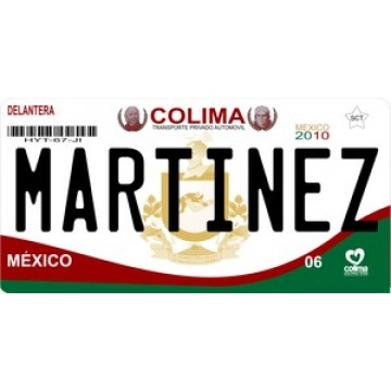 Mexico Colima Photo License Plate