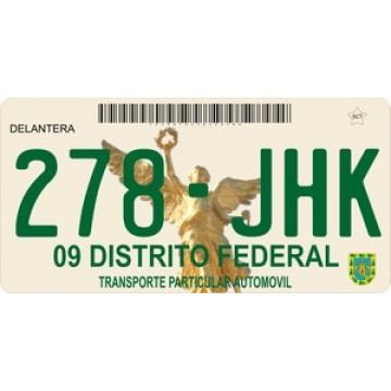 Mexico 09 Distrito Federal Photo License Plate
