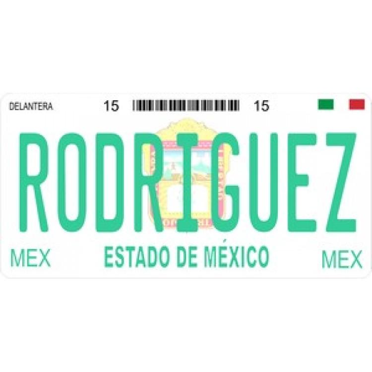 Mexico Estado De Mexico Photo License Plate
