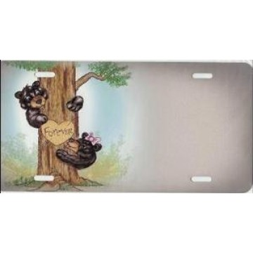 Bear Cubs Forever In Tree License Plate