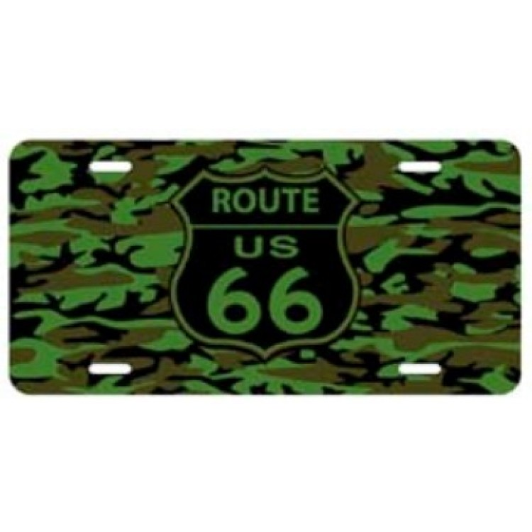 Route 66 Camouflage License Plate