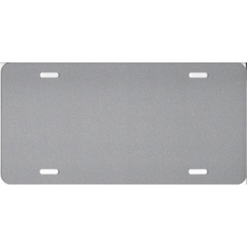 0.040 Bright Silver Aluminum Blank License Plate