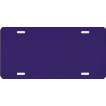 0.040 Dark Purple Aluminum Blank License Plate