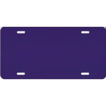 0.040 Dark Purple Aluminum Blank License Plate
