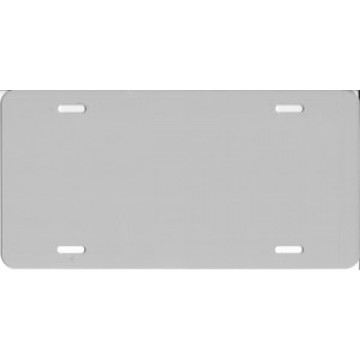 0.040 Light Gray Aluminum Blank License Plate