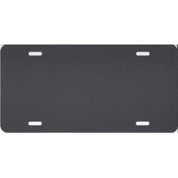 0.040 Metallic Charcoal Aluminum Blank License Plate