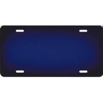 Blue Blank License Plate
