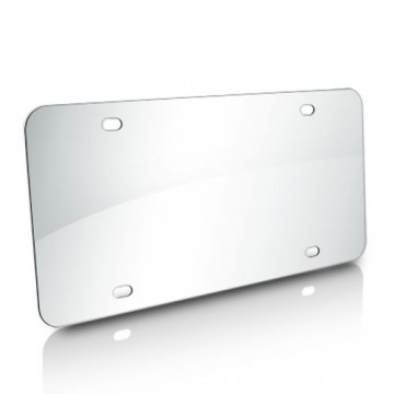 Stainless Steel Polished Mirror Finish License Plate