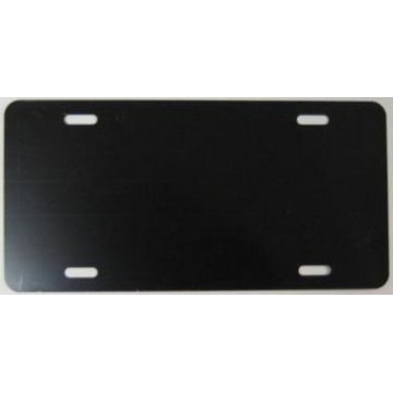 0.040 Black Aluminum Blank License Plate