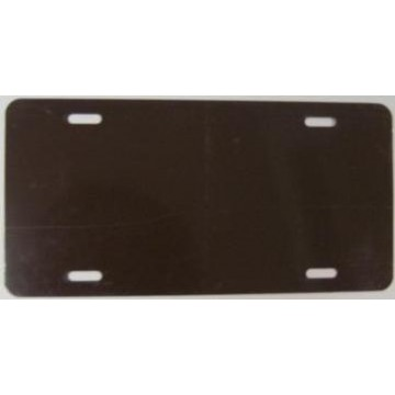 0.040 Brown Aluminum Blank License Plate