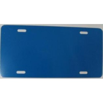 0.040 Chevron Blue Aluminum Blank License Plate