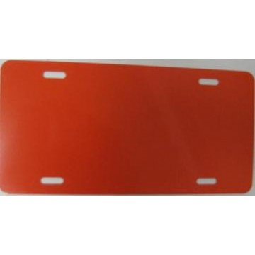 0.040 Construction Orange Aluminum Blank License Plate