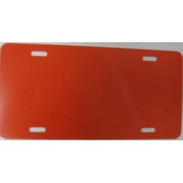 0.040 Construction Orange Aluminum Blank License Plate