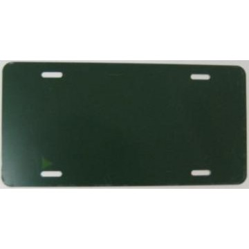 0.040 Dark Green Aluminum Blank License Plate