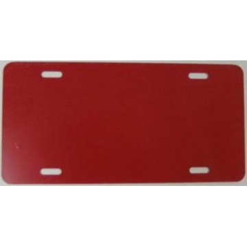 0.040 Red Aluminum Blank License Plate