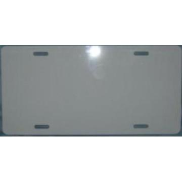 0.025 White Aluminum Blank License Plate