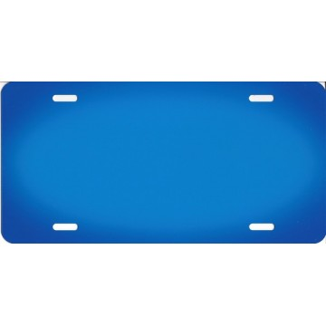 Blue Oval Fade Blank License Plate
