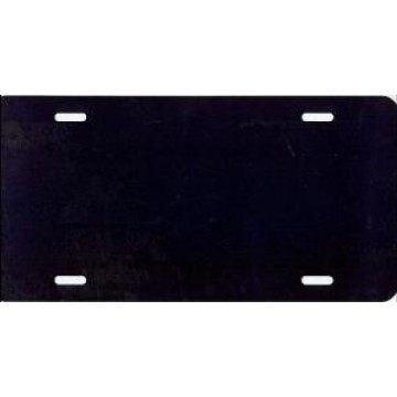 Black Solid Blank License Plate