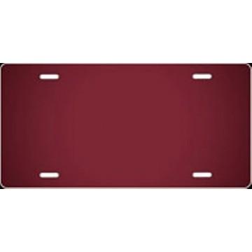 Burgundy Ringer Airbrush License Plate