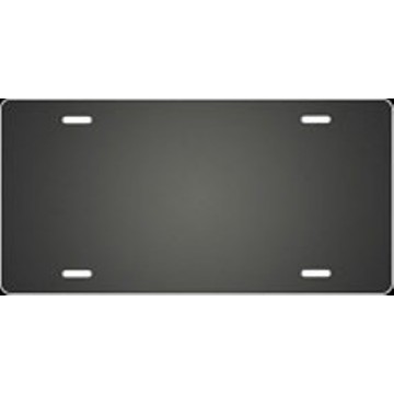 Charcoal Ringer Airbrush License Plate