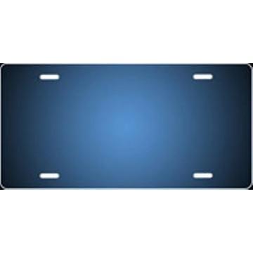 Blue/Black Fade Ringer Airbrush License Plate