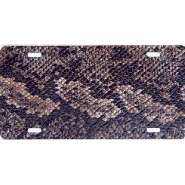 Snake Skin Airbrush License Plate