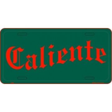 Caliente License Plate