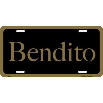 Bendito License Plate