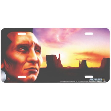 """Navajo Sunset"" License Plate"