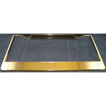 Gold Blank Double Panel License Plate Frame