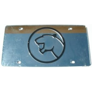 Cougar Silver Laser Cut License Plate