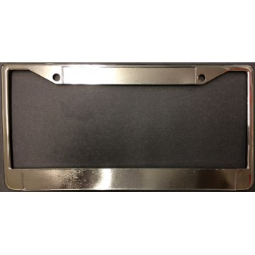 Zinc Alloy Chrome Blank Double Panel License Plate Frame