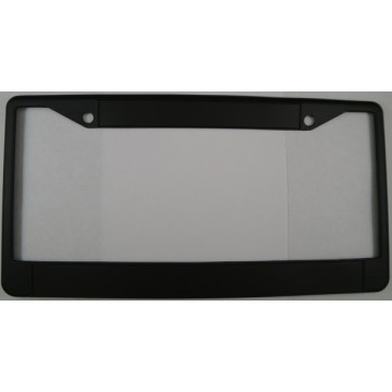 Zinc Alloy Black Blank Double Panel License Plate Frame