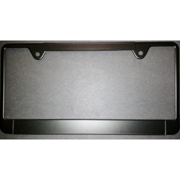 Zinc Alloy Black Thin Top Double Panel License Plate Frame