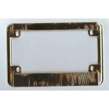 Motorcycle Gold Double Panel License Frame