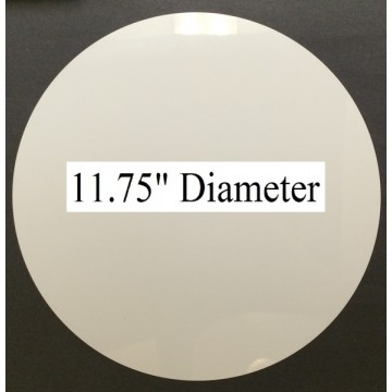 "White Dye Sublimation Aluminum 11.75"" round Blanks No Hole Pack of 25"