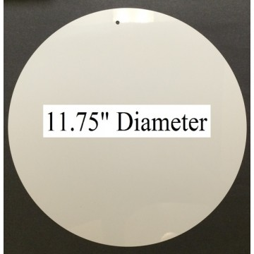 "White Dye Sublimation Aluminum 11.75"" round Blanks Pack of 10"