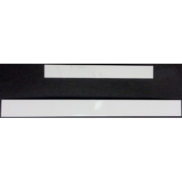 White Dye Sublimation License Plate Frame Strips