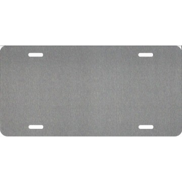 Brushed Chrome Dye Sublimation .025 Aluminum License Plate Blanks