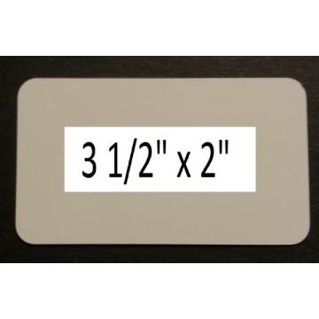 White Dye Sublimation .025 Aluminum Business Card Blanks