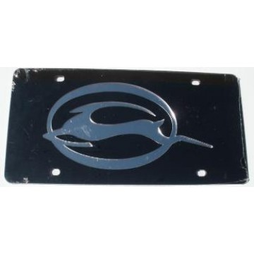Chevy Impala Black Laser License Plate