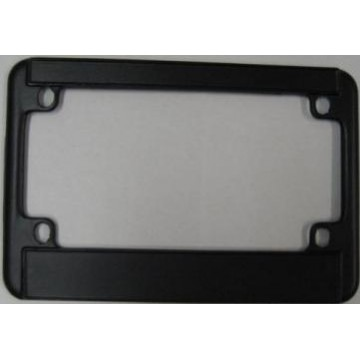 Motorcycle Black Double Panel License Frame