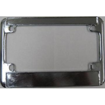 Motorcycle Chrome Double Panel License Plate Frame