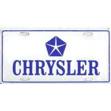 Chrysler Metal License Plate