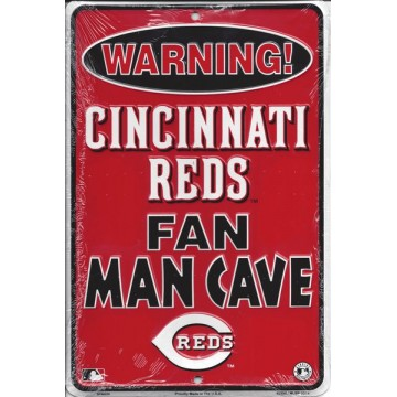 Cincinnati Reds Man Cave Metal Parking Sign