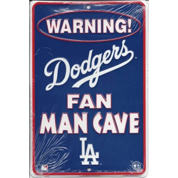 Los Angeles Dodgers Man Cave Metal Parking Sign
