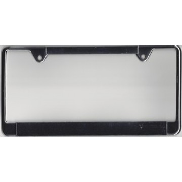 Zinc Alloy Chrome Thin Top Double Panel License Plate Frame
